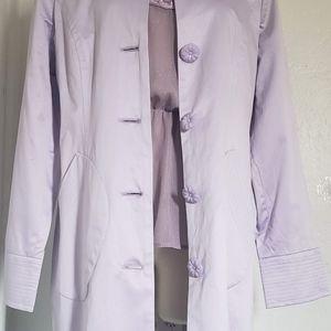 Arden B Jackets & Coats - ArdenB. Light Weight Purple Satin Women Coat SizeS